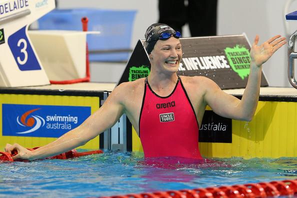 Cate Campbell zwemt WR 100m vrijeslag