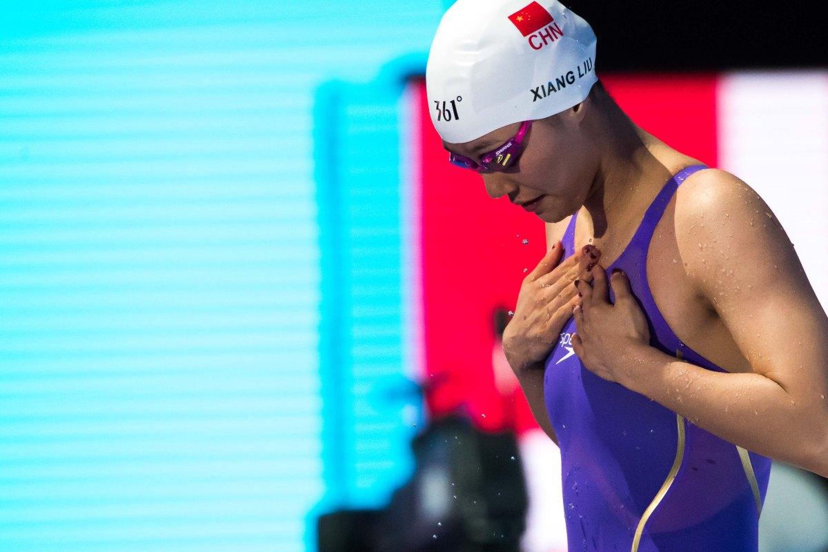 Liu Xiang (CHN) eerste vrouw ooit onder 27 seconden op 50rugslag
